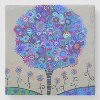 Tree of Life Stone Coaster