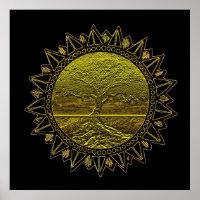 Tree of Life Sun Salutation Poster