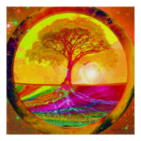 Tree of Life Sunrise Poster