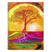 Tree of Life Sunrise Spiral Notebook (<em>$12.95</em>)