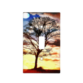 Tree of life Sunset Light Switch Cover