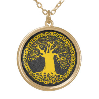 Tree of Life Tattoo Gold Plated Necklace