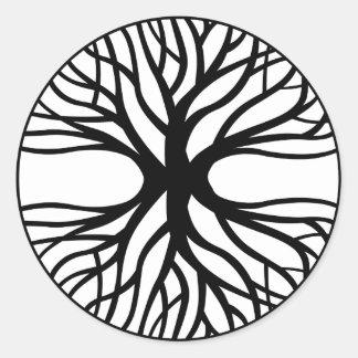 Tree Of Life Tattoo Round Stickers