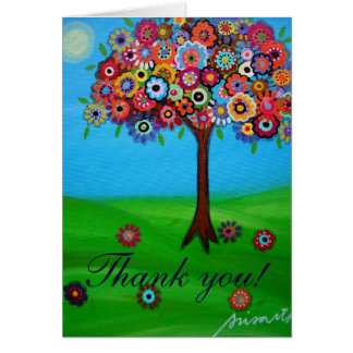 TREE OF LIFE Thank you Card Greeting Card
