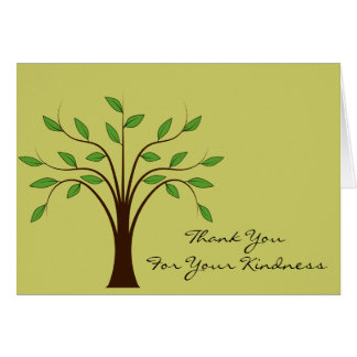 Tree of Life Thank You For Your Kindness Custom Cards