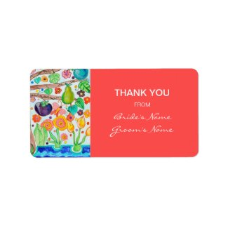 Tree of Life Thank You Gift Sticker label