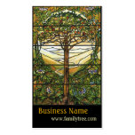 Tree of Life/Tiffany Stained Glass Window Business Card