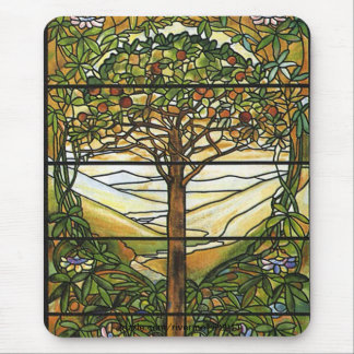 Tree of Life/Tiffany Stained Glass Window Mouse Pad