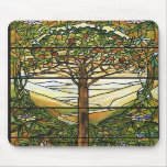 Tree of Life/Tiffany Stained Glass Window Mouse Pads
