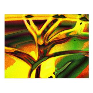 Tree of life trance postcard