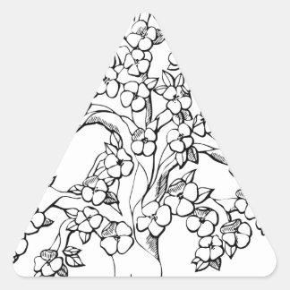 Tree of Life Triangle Sticker