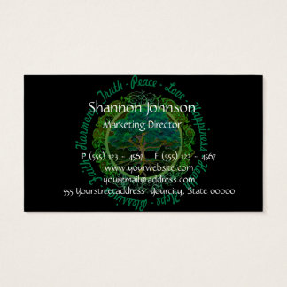 Tree of Life Truth, Peace, Love, Happiness Business Card