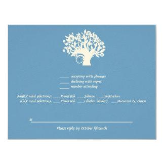 Tree of Life Twins Bar Bat Mitzvah Wedding RSVP Card