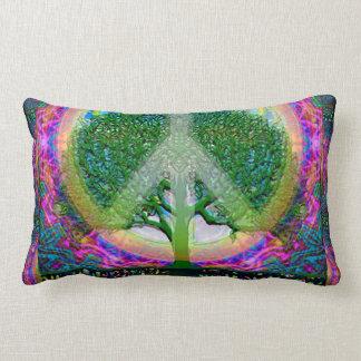 Tree of Life Unity and Peace Lumbar Pillow