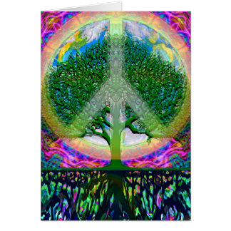Tree of Life Unity and Peace Stationery Note Card