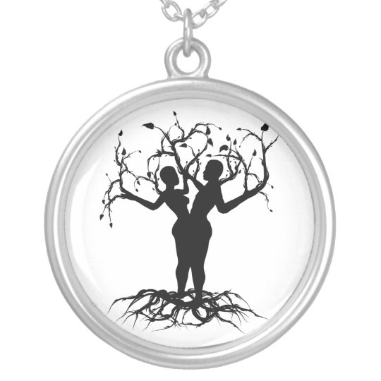 Tree of Life Unity Silver Plated Necklace