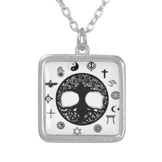 Tree of Life Unity Square Pendant Necklace
