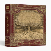 Tree of Life Vintage Look Artwork 3 Ring Binder (<em>$22.00</em>)