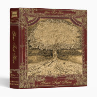 Tree of Life Vintage Look Artwork 3 Ring Binder