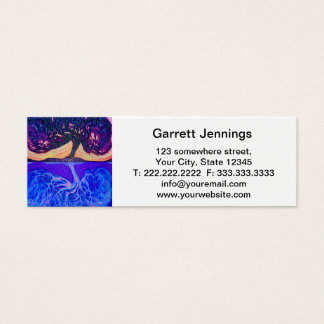 Tree of Life Water's Reflection f Mini Business Card