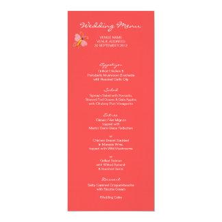 Tree of Life Wedding Menu Card