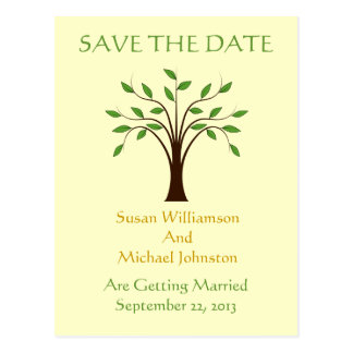 Tree of Life Wedding Save The Date Nature Custom Postcard