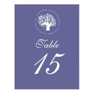 Tree of Life Wedding Table Card Purple 669