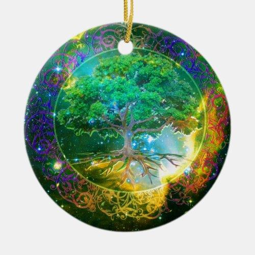 Tree of Life Wellness Ceramic Ornament