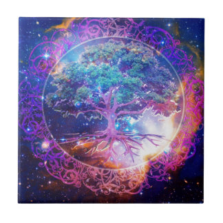 Tree of Life Wellness Ceramic Tile
