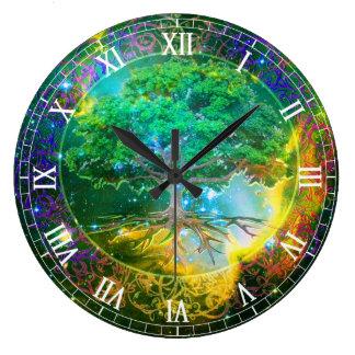 Tree of Life Wellness Large Clock