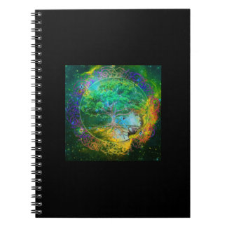 Tree of Life Wellness Spiral Notebook