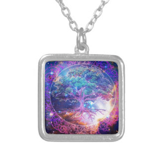 Tree of Life Wellness Square Pendant Necklace