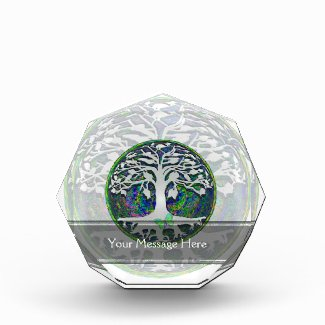Tree of Life with Butterfly in Circle Acrylic Award
