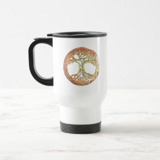 Tree of Life with Celtic Inspiration Travel Mug