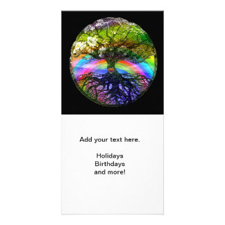 Tree of Life with Rainbow Heart Card