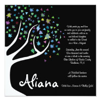 TREE of LIFE with STARS Bat Mitzvah Invitation
