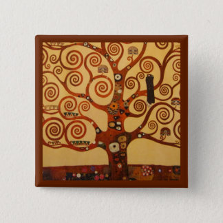 Tree of Life with Swirling Branches Button
