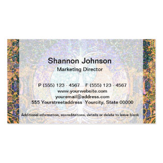 Tree of life with ying yang and heart symbol Double-Sided standard business cards (Pack of 100)