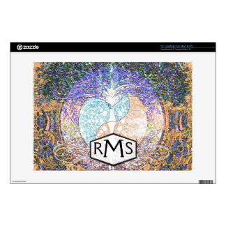 tree of life with ying yang and heart symbol decal for laptop