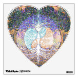 Tree of life with ying yang and heart symbol room graphics