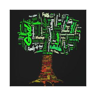 Tree of Life Word Cloud Canvas Print