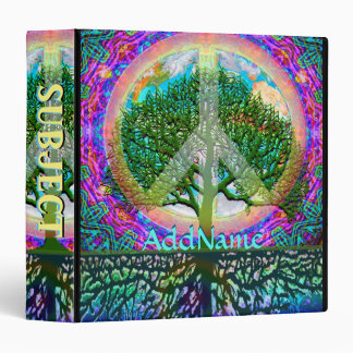Tree of Life World Peace 3 Ring Binder