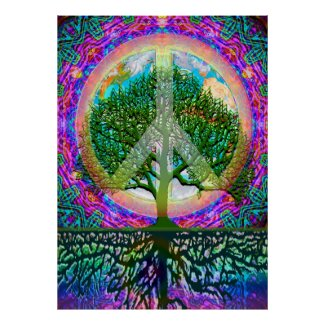 Tree of Life World Peace Poster