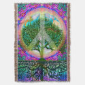 Tree of Life World Peace Rainbow Throw (<em>$84.40</em>)
