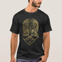 Tree of life  -Yggdrasil  and Celtic Cross T-Shirt