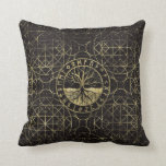 Tree of life  -Yggdrasil and  Runes Throw Pillow