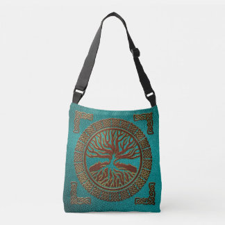Tree of life  -Yggdrasil  - Embossed Faux Leather Crossbody Bag