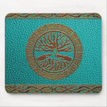 Tree of life  -Yggdrasil  - Embossed Faux Leather Mouse Pad
