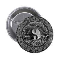 Tree of Life Yin Yang Button