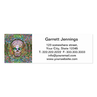Tree of Life, Yin Yang Eyes, Skull Double-Sided Mini Business Cards (Pack Of 20)